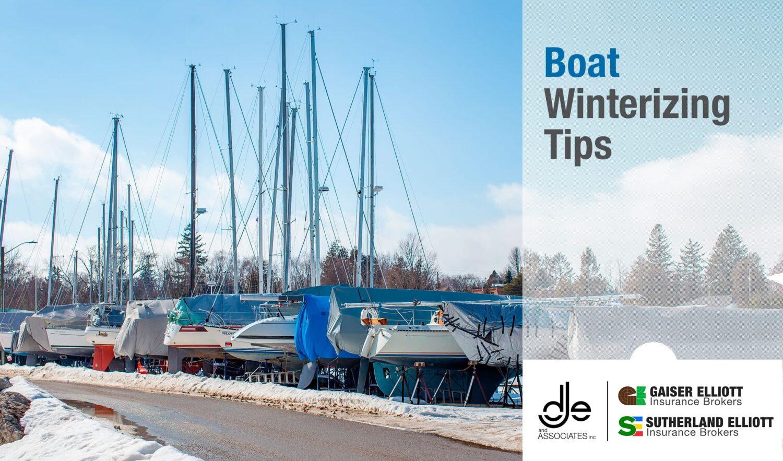 winterized boats at marina