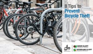 locked bicycles