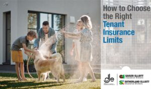 insured tenants playing with their dog